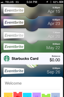 Events In My Passbook